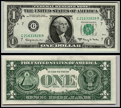 1963A Chicago  Uncirculated $1 Dollar Bill  Federal Reserve Note  Lot V117
