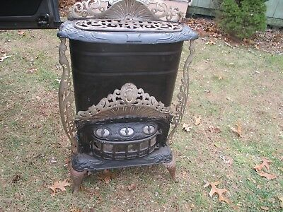 "antique ERIEZ stove from ERIE PA nice shape - complete 41"" tall - small sized"