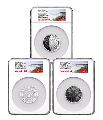 2017 Canada Phases of Moon 3-Coin Set 2 oz Silver $30 NGC PF70 UC ER SKU49453