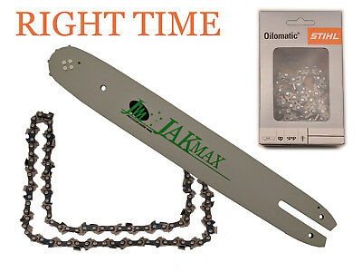 """Stihl chainsaw MS170  MS171  MS180  MS210 etc 14"""" Jakmax Guide Bar & 1 Chain"""