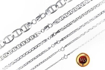 """ITALY 925 SOLID Sterling Silver MARINER Chain Necklace or Bracelet  7"""" - 36"""""""