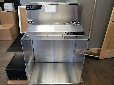 """Germfree Lab Hood Model Bz-3Ss-Rx With Stainless Steel Stand """"used"""""""