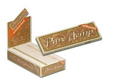 Pure Hemp Unbleached 25 Packs 1-1/4 Cigarette Rolling Papers NEW BOX