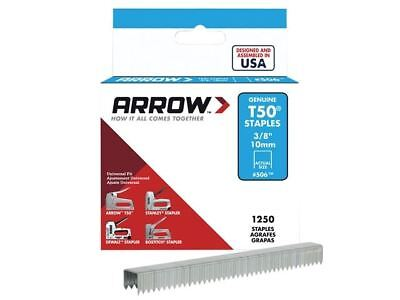 Arrow T50 Staples 10mm (3/8in) Box 1250
