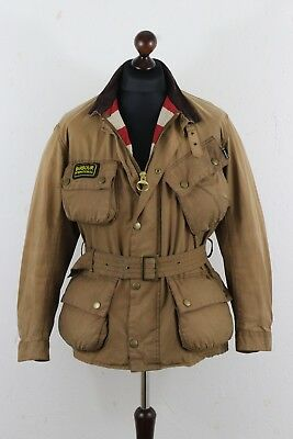 BARBOUR International Steve McQueen Washington USA Mens Jacket size L  P2P 24.5""