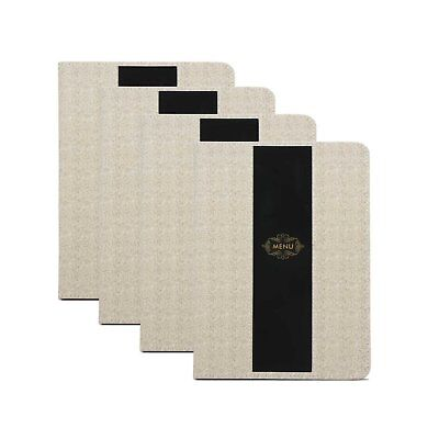 Segarty Leather Menu Cover 8.5x12 Inch | Double View | Drinks Menu Holder for /