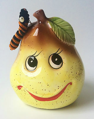 CMC Japan 60s Vintage Anthropomorphic Pear Dish Scrubber Sponge Holder Kitsch