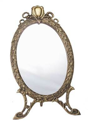 Oval Mirror in Antique Brass Finish [ID 21017]