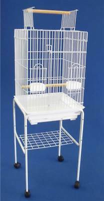 Open Top Small Parrot Cage w Stand [ID 1011988]