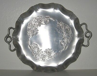 FARBER Shlevin Hand Wrought Aluminum 15 Inch Tray 1756