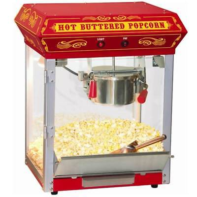 FunTime Carnival Style 4 oz. Hot Oil Popcorn Machine in Red [ID 166865]