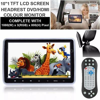 "10.1"" Car Headrest Monitors w/DVD Player/USB/HDMI/SD/AV FM Speaker BT+Games"