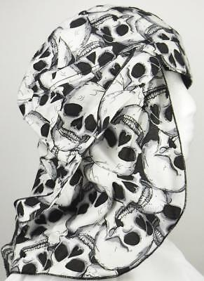 skull cap hat do doo rag skull skeleton sun block legionnaire sweat band USA
