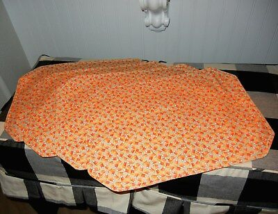 Longaberger Candy Corn Toss Set of 2 Fabric Placemats NEW without tags