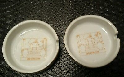 (2 ) China Old King Cole ashtray 3""