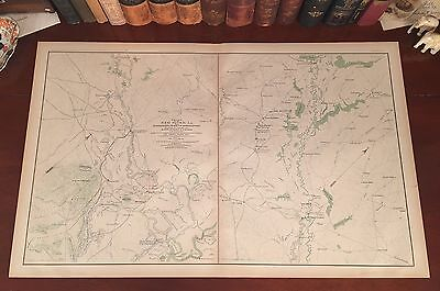 Original Antique Civil War Map RED RIVER LOUISIANA Alexandria Shreveport LA