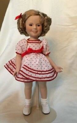 "New Danbury Shirley Temple Stand and Cheer 14"" Doll Original Box & Certificate"