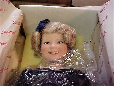 """Shirley Temple """"Gift Giver"""" 17""""doll by Danbury Mint --Original Box & Certificate"""