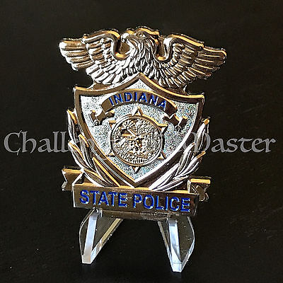 Indiana State Police Highway Patrol Trooper Challenge Coin