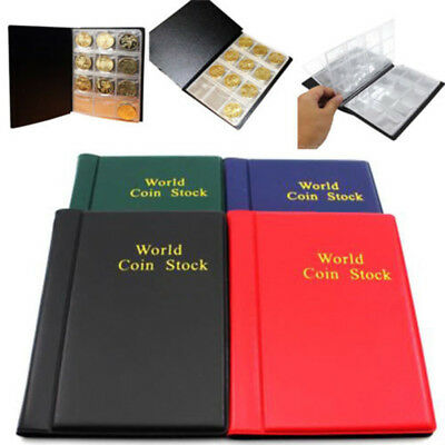 120 Slots Coin Penny Collecting Holder Pockets Storage Album Book Sleeves Folder