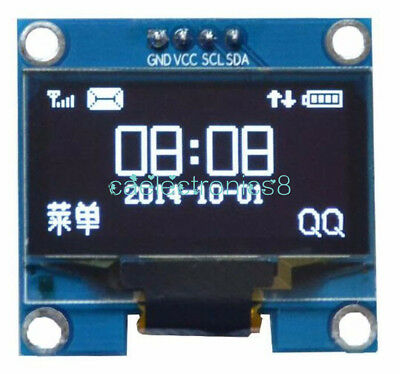 "1.3"" White OLED LCD Display Module IIC I2C Interface 128x64 3-5V For Arduino CA"