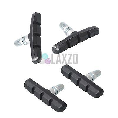2x Pair Bicycle V-Brake Pads Black Rubber 70MM For Bike Cycle New
