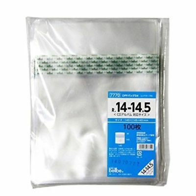 () Bellbe OPP 100 Plastic Resealable Bag Sleeve Japan for CD Jewelcase