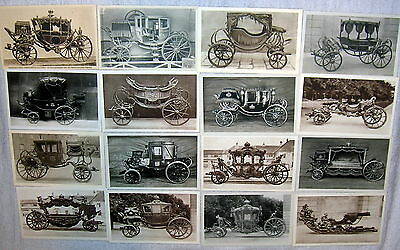Lot of 16 Vintage Horse Coronation Carriage Postcards, Schonnbrunn - Wagenburg
