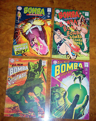 Lot Of 4. Bomba the Jungle Boy #4, 5, 6, 7. DC  1968  No Reserve