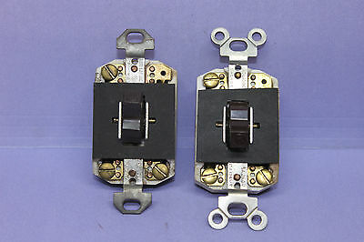 Lot 2 Vintage Arrow-H&H Porcelain Ceramic 3-Way Toggle Light Switch - TESTED