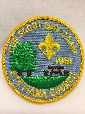 Boy Scouts-  1981 Cub Scout Day Camp patch - Otetiana Council