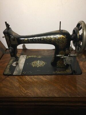 Antique Singer Model 27 Sewing Machine Treadle Head Tiffany Gingerbread 1901