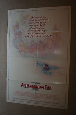 AN AMERICAN TAIL Orig. 1-SHEET Movie Poster 1986 STEVEN SPIELBERG ANAMATION