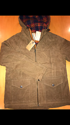 Timberland Mt Davis Hiker Jacket Waxed Canvas Shitake Large Nwt $198