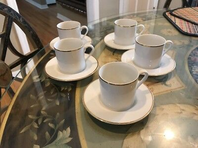 5 TIFFANY & CO. Demitasse Cup and Saucer Sets