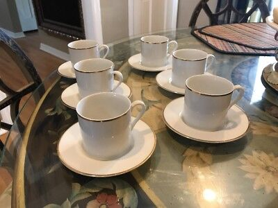 6 TIFFANY & CO. Demitasse Cup and Saucer Sets