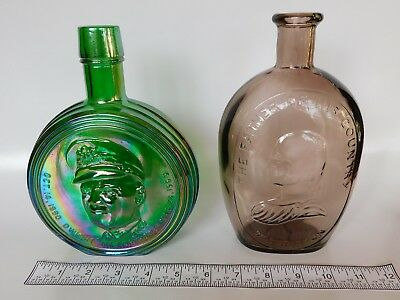 Set Of 2 Wheaton The Great American Series Commemorative Decanter Bottles
