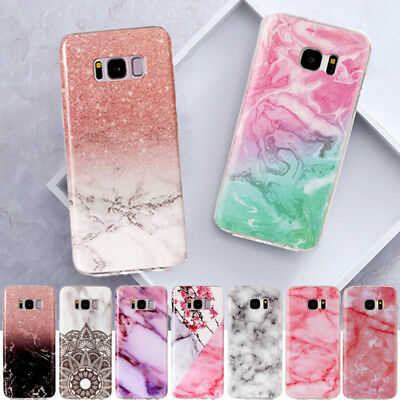 Print Soft TPU Rubber Marble Patterned Case Cover For Samsung Galaxy S8 S7 J7 J5