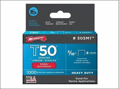 Arrow T50M 508m Monel Staples 12mm (1/2in) Box 1000