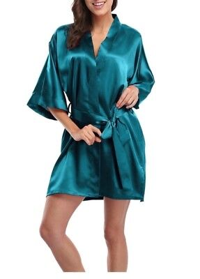 Silky Teal Robes for women.Brand new never worn. Mid-thigh length. 5 Available