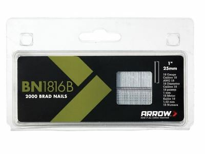 Arrow BN1816B Brad Nails 25mm Brown Head Pack 2000