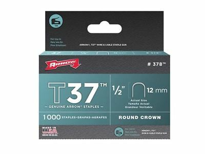 Arrow T37 Staples 12mm (1/2in) Box 1000