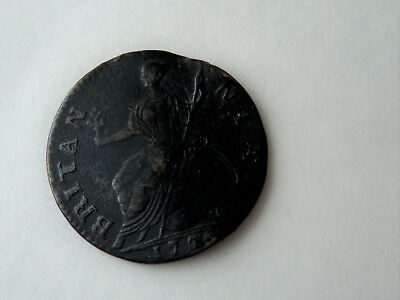 1776 Britain George III Half penny Unrestored