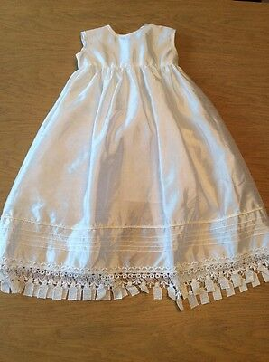 BNWOT Girls Simple Christening Dress By Couche Tot (3-6 Mths) *FREE UK P&P*