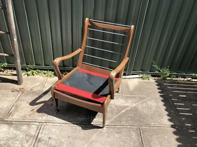 Vintage Retro Wrightbilt Mid Century Armchair Timber Chair Lounge Frame Chair