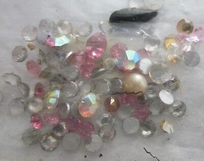Vintage Various Colors And Sizes Of Rhinestones