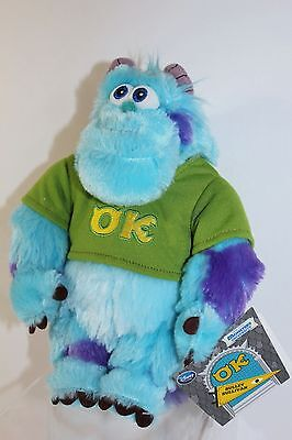 "Disney Store Sulley Sully James Sullivan 9"" Monsters Inc University Plush NEW"