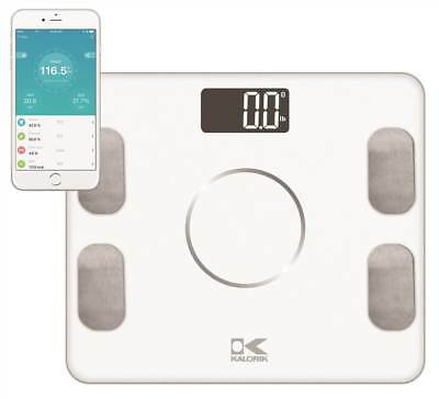 Bluetooth Electronic Body Fat Scale with Body Analysis in White [ID 3682893]