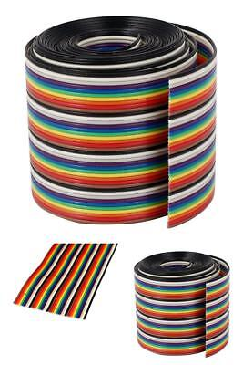 Ribbon IDC Cable with Standard Wire Rainbow Cable Flat Color Rainbow Jacks&Pins