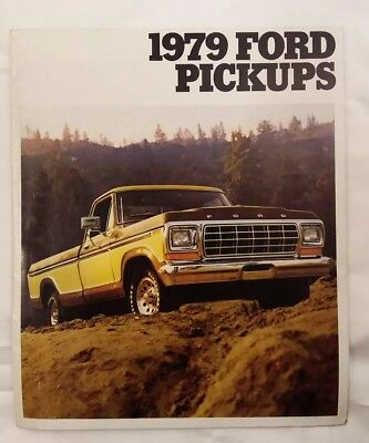 1979 Ford F-100 F-150 F-250 F-350 Pickup Trucks Dealer Sales Brochure